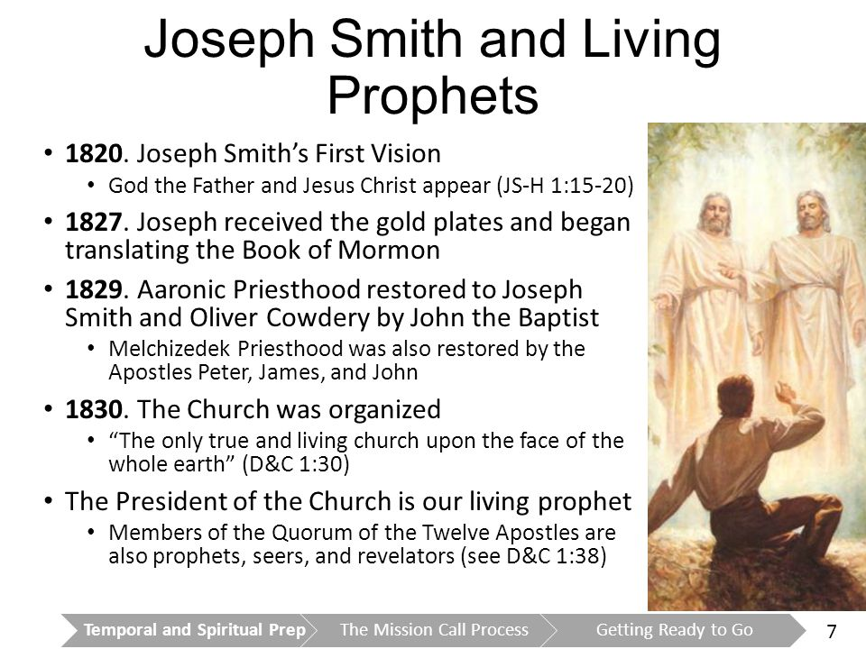 8 The Book of Mormon Is powerful evidence of the divinity of Jesus Christ Is proof that Joseph Smith was a true prophet Is an essential part of the conversion process Is a missionary's main source for teaching the gospel President Ezra Taft Benson said, If the Book of Mormon is true, then Jesus is the Christ, Joseph Smith was his prophet, The Church of Jesus Christ of Latter-day Saints is true, and it is being led today by a prophet receiving revelation (A Witness and a Warning, 4–5).