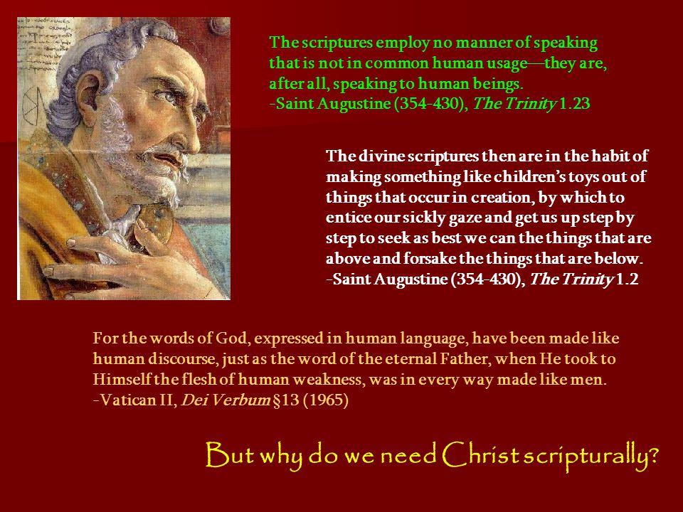 But why do we need Christ scripturally.