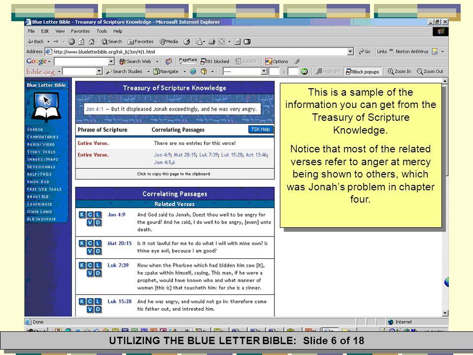 When you check the drop down menu provided for this option, you get a list of all the available dictionary entries for topics related to the passage, as well as Thematic Study Guides.