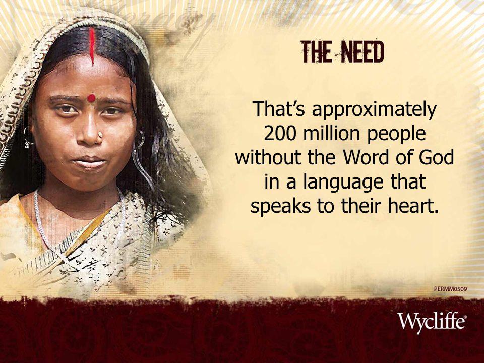 Translations, dictionaries, health books, etc.take decades to produce through translation.
