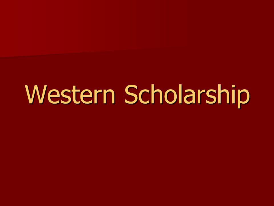 Western Scholarship