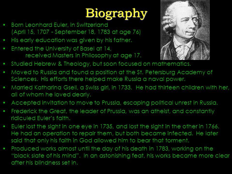 Leonhard Euler (pronounced Oiler) Analysis Incarnate Read Euler, read Euler.