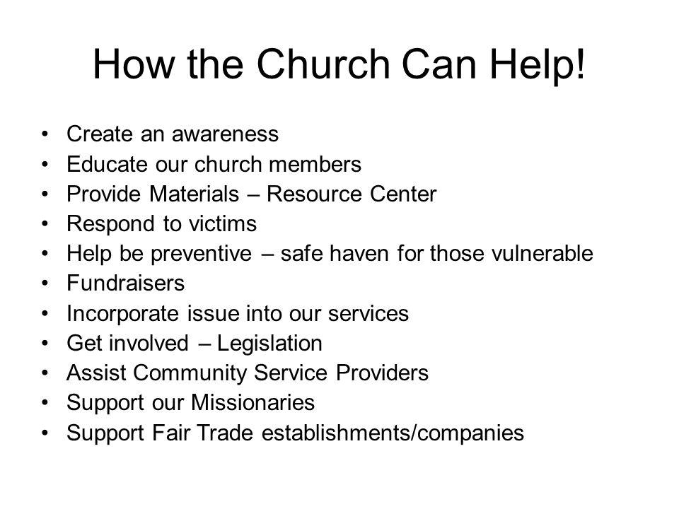 How the Church Can Help.