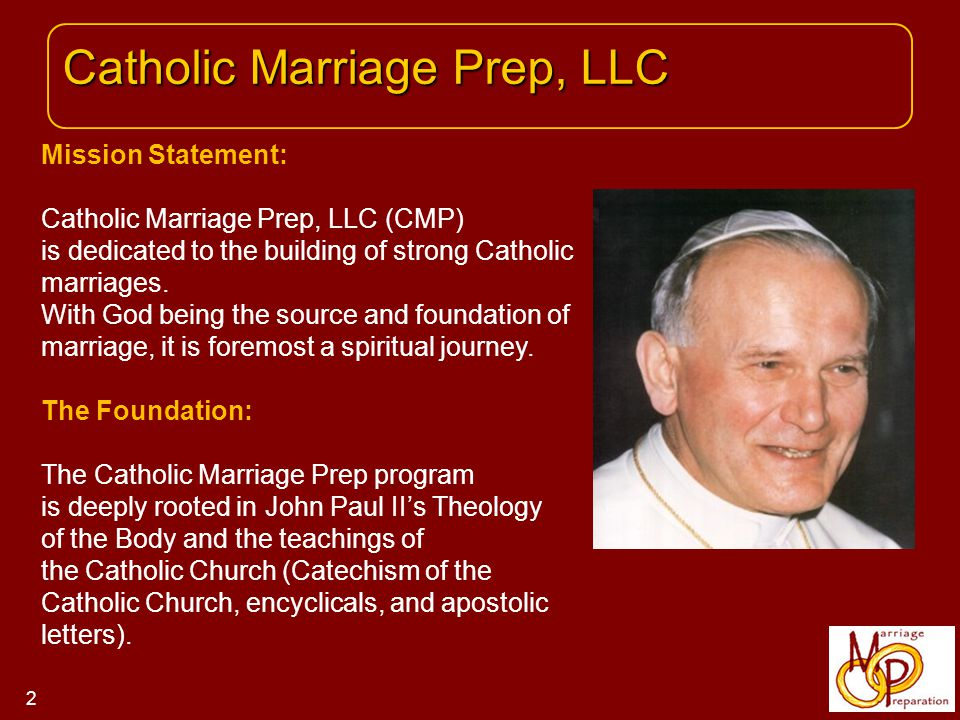 The course covers the theological and sacramental aspects of marriage and sexuality.