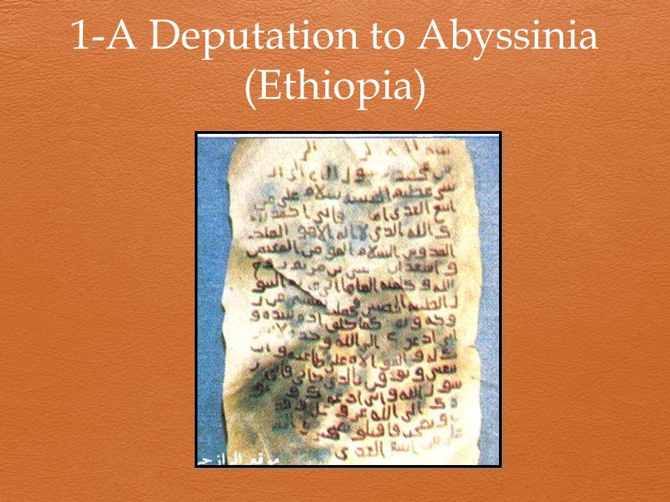1-A Deputation to Abyssinia (Ethiopia)