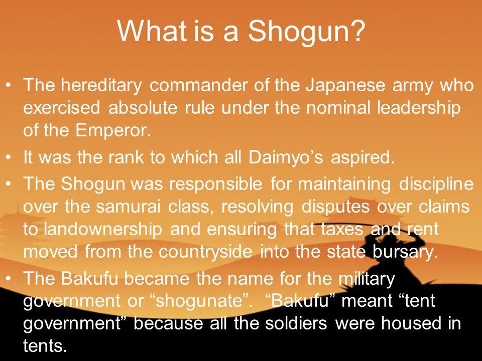 What is a Shogun.