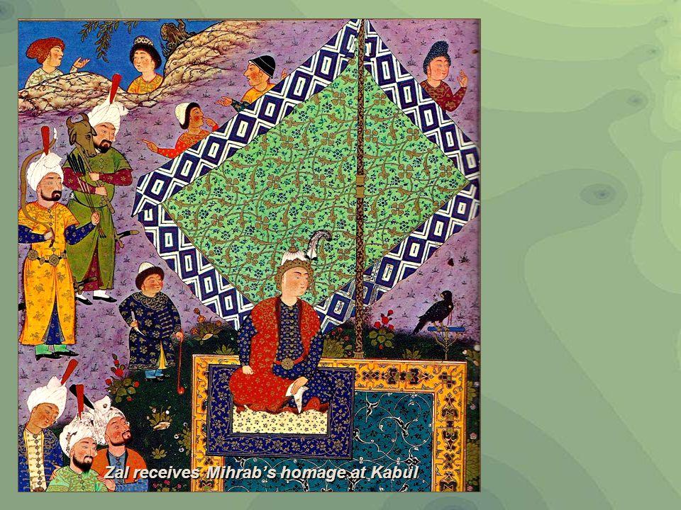Zal receives Mihrab's homage at Kabul