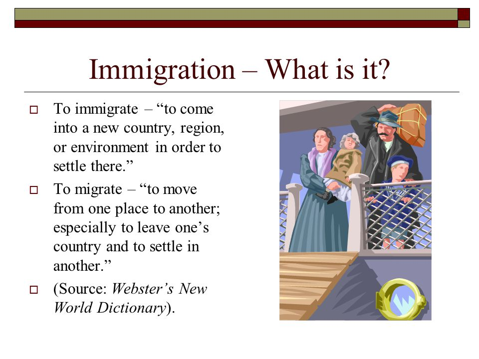 Immigration – What is it.
