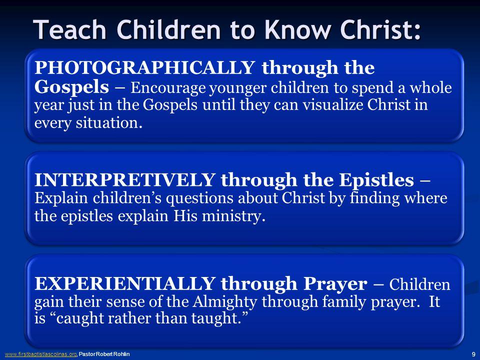 www.firstbaptistlascolinas.orgwww.firstbaptistlascolinas.org, Pastor Robert Rohlin 19 5.