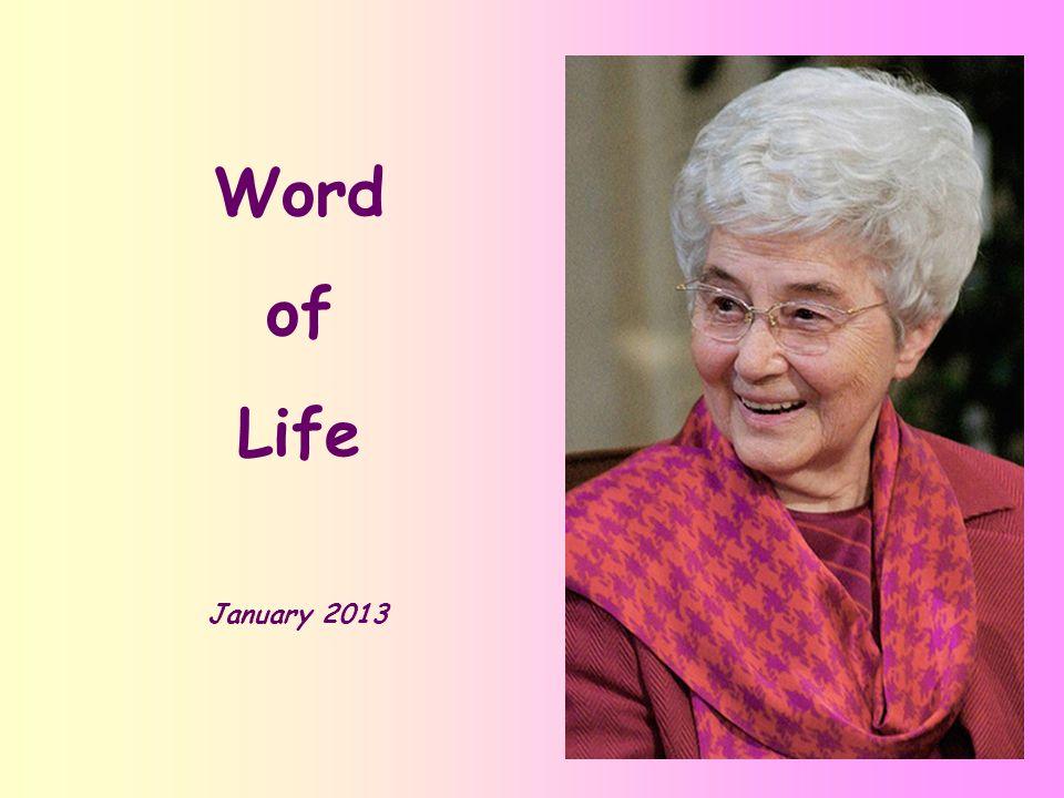 Word of Life January 2013