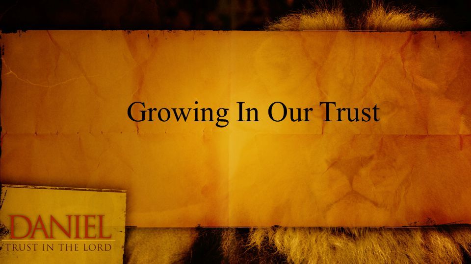 Growing In Our Trust
