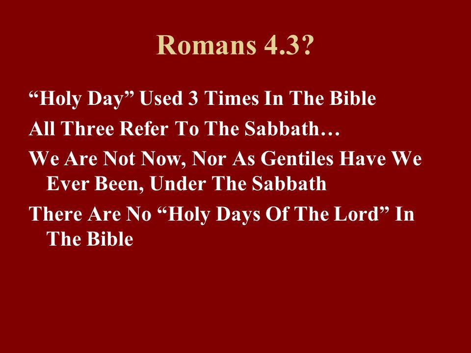 Romans 4.3.
