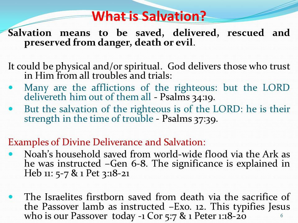 What is Salvation.