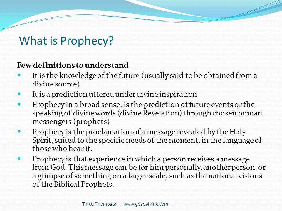 What is Biblical Prophecies.