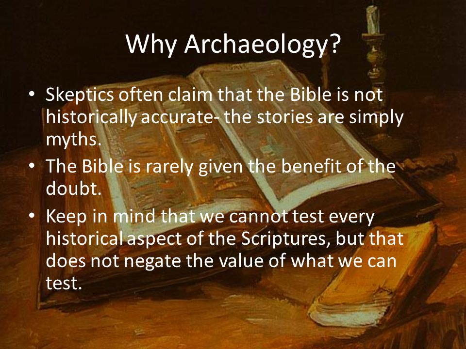 Why Archaeology.