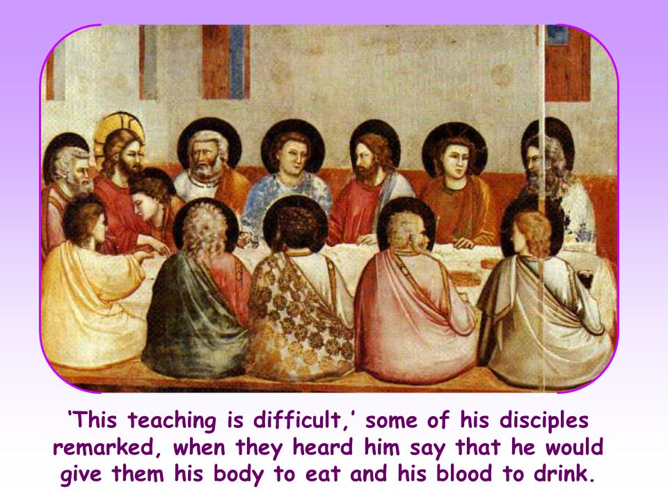 Jesus explained things still more deeply to his Apostles and he spoke openly of the Father and of heavenly things, without using figures of speech.