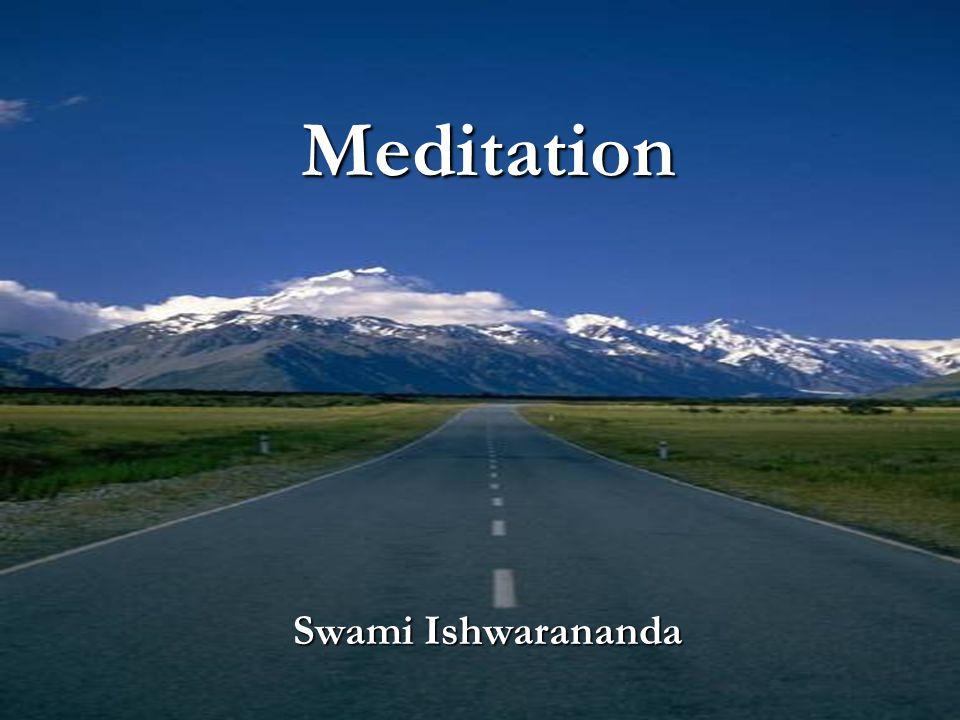 Meditation Swami Ishwarananda