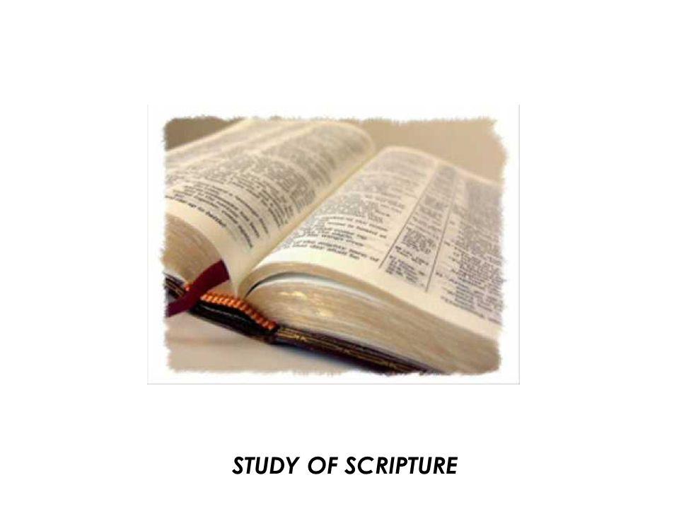 STUDY OF SCRIPTURE
