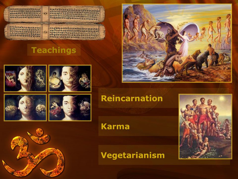 Teachings Reincarnation Karma Vegetarianism