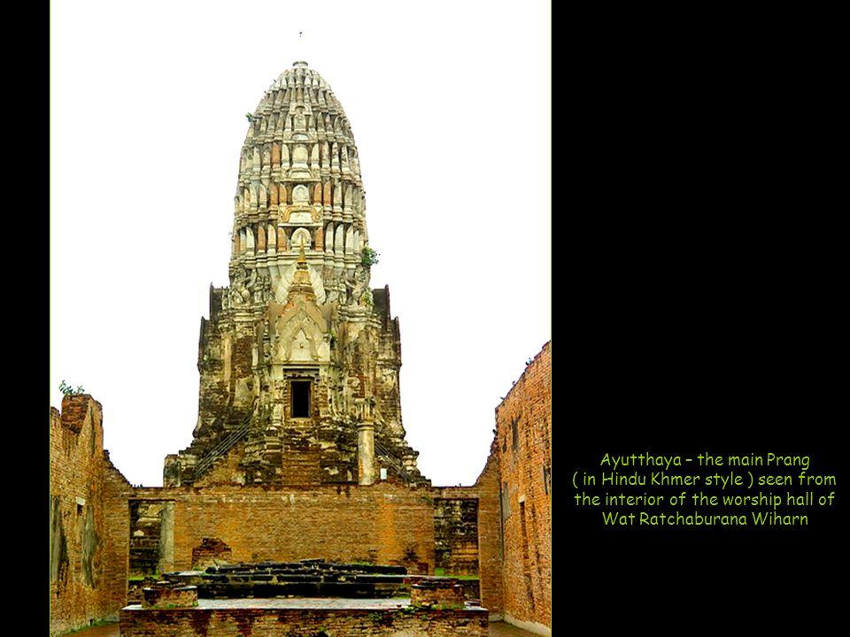 Ayutthaya – the three Chedis at Wat Phra Si Sanphet with the remains of King Borommatrailokanat, King Borommarachathirat III and King Ramathibodi II