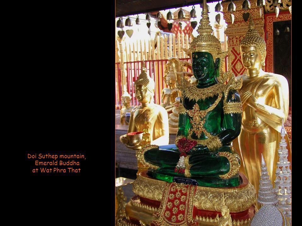 Doi Suthep mountain, Golden Buddha at Wat Phra That