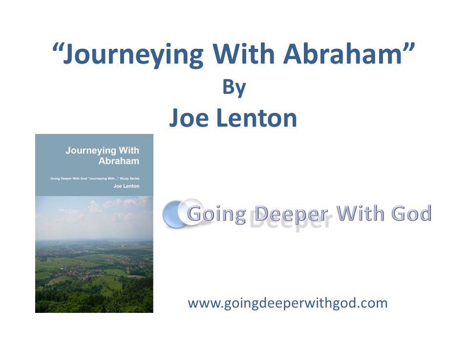 Journeying With Abraham A fresh approach to a classic story Great for group or individual study Highly practical with a focus on application to our lives today Engaging questions Enables theological reflection using our experiences, imagination, emotions and analytical skills