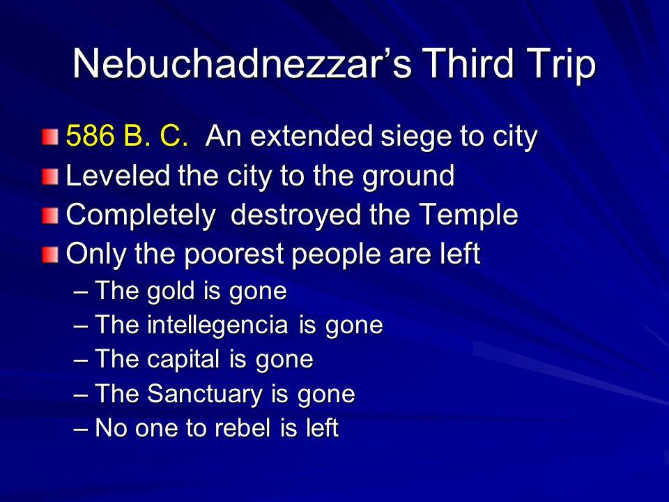 Nebuchadnezzar's Third Trip 586 B. C.