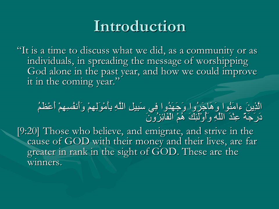 The Importance of Inviting to God كُنْتُمْ خَيْرَ أمَّةٍ أخْرِجَتْ لِلنَّاسِ تَأمُرُونَ بِالْمَعْرُوفِ وَتَنْهَوْنَ عَنْ الْمُنكَرِ وَتُؤْمِنُونَ بِاللَّهِ [3:110] You are the best community ever raised among the people: you advocate righteousness and forbid evil, and you believe in GOD