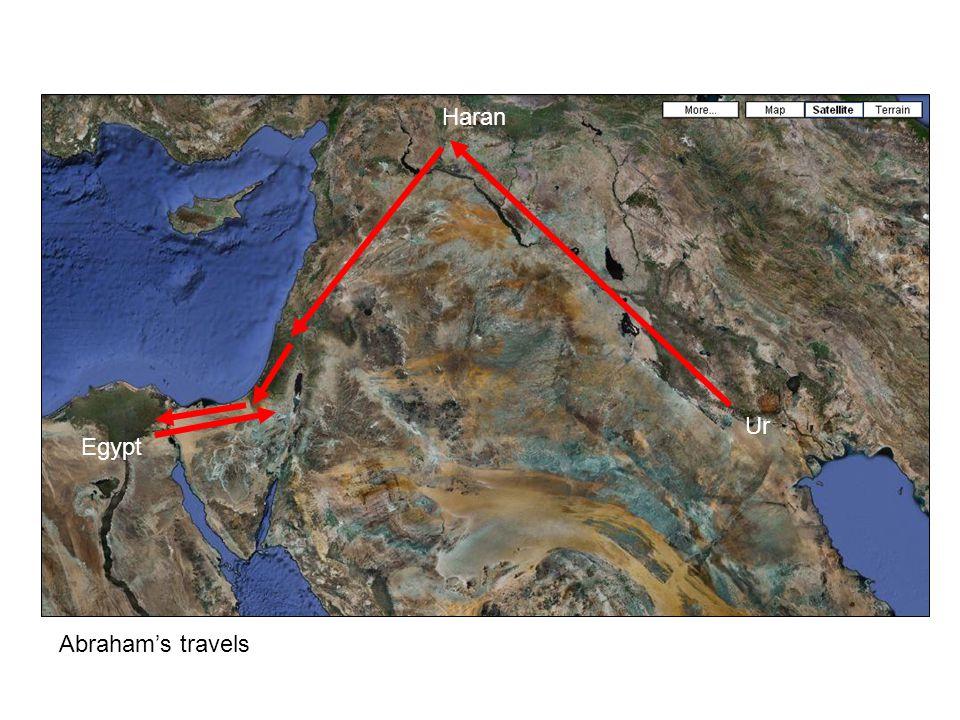 Ur Haran Egypt Abraham's travels