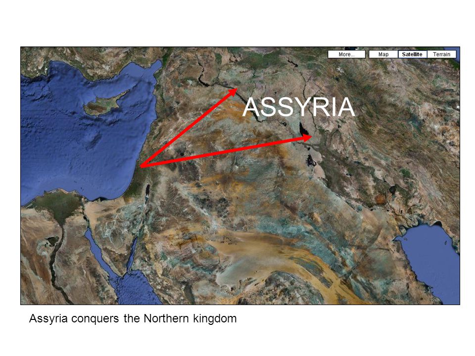 Assyria conquers the Northern kingdom ASSYRIA