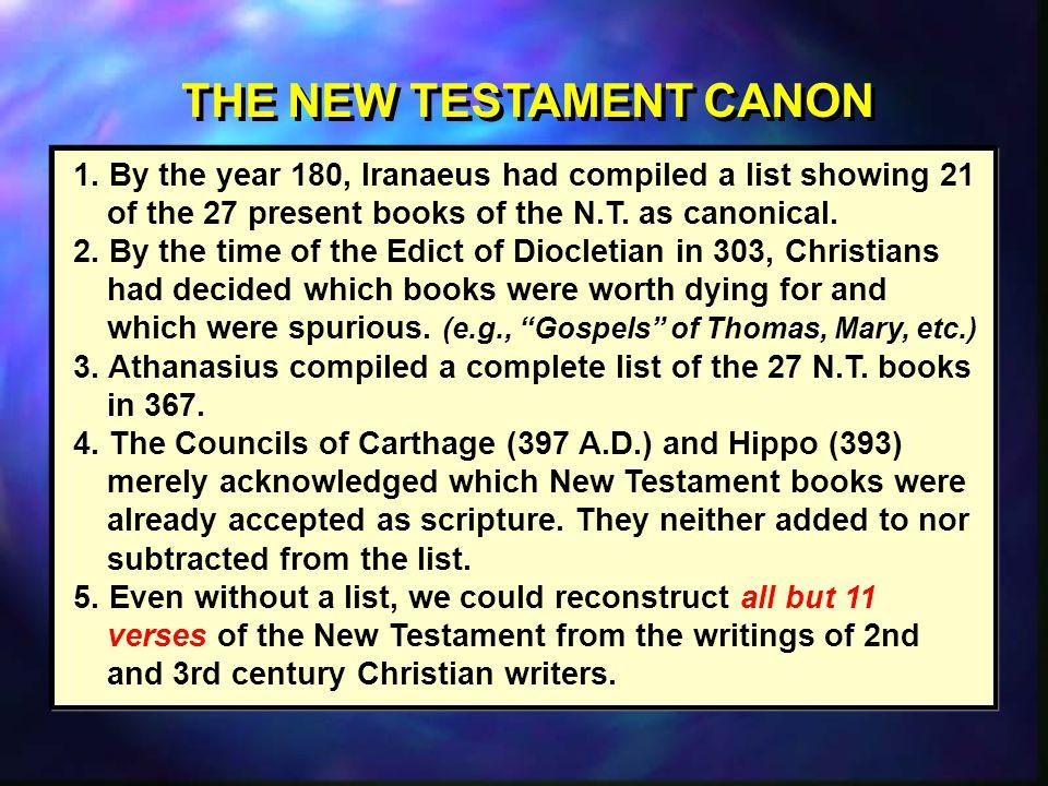 THE NEW TESTAMENT CANON 1.