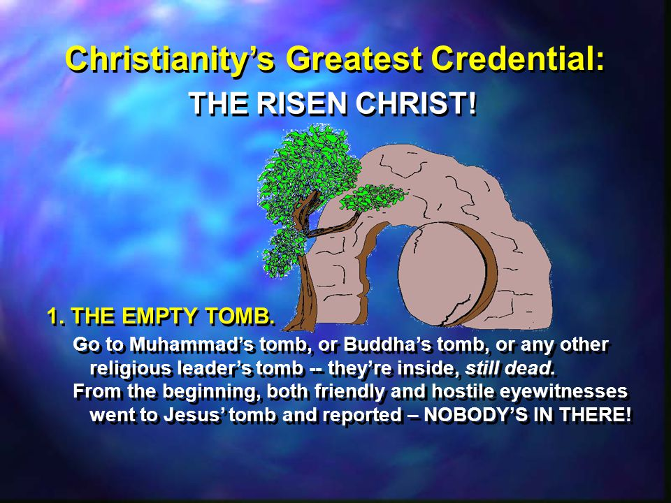Christianity's Greatest Credential: THE RISEN CHRIST.