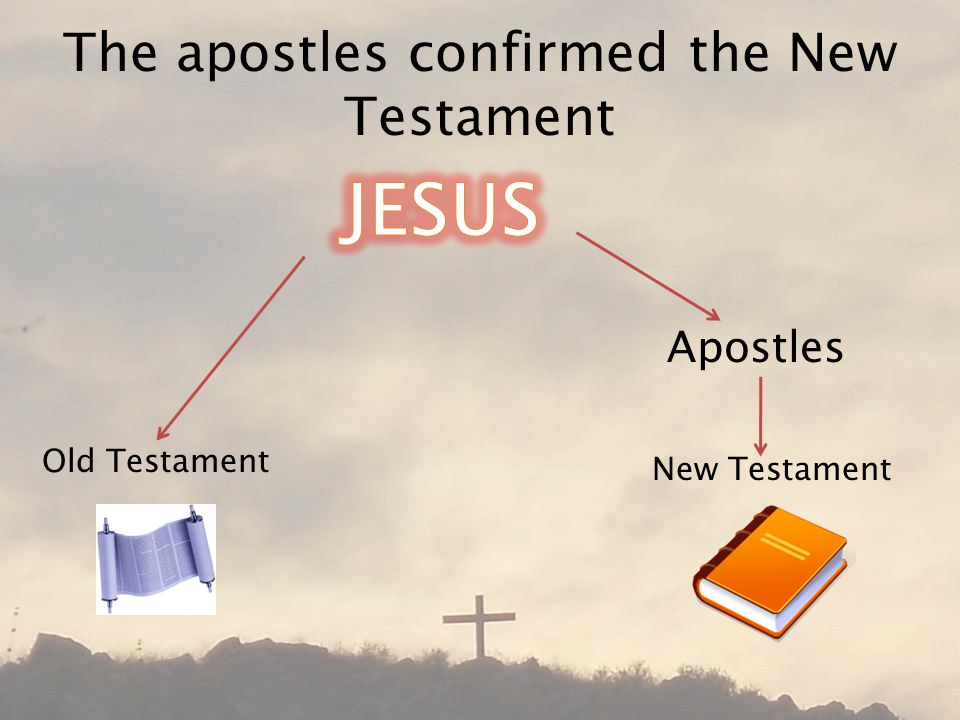 The apostles confirmed the New Testament Old Testament New Testament Apostles