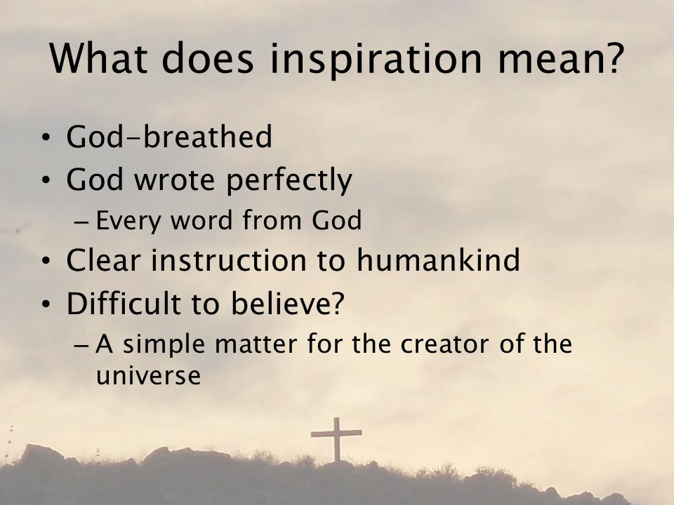 What does inspiration mean.