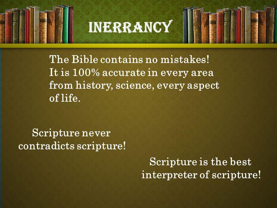 Scripture never contradicts scripture. Scripture is the best interpreter of scripture.