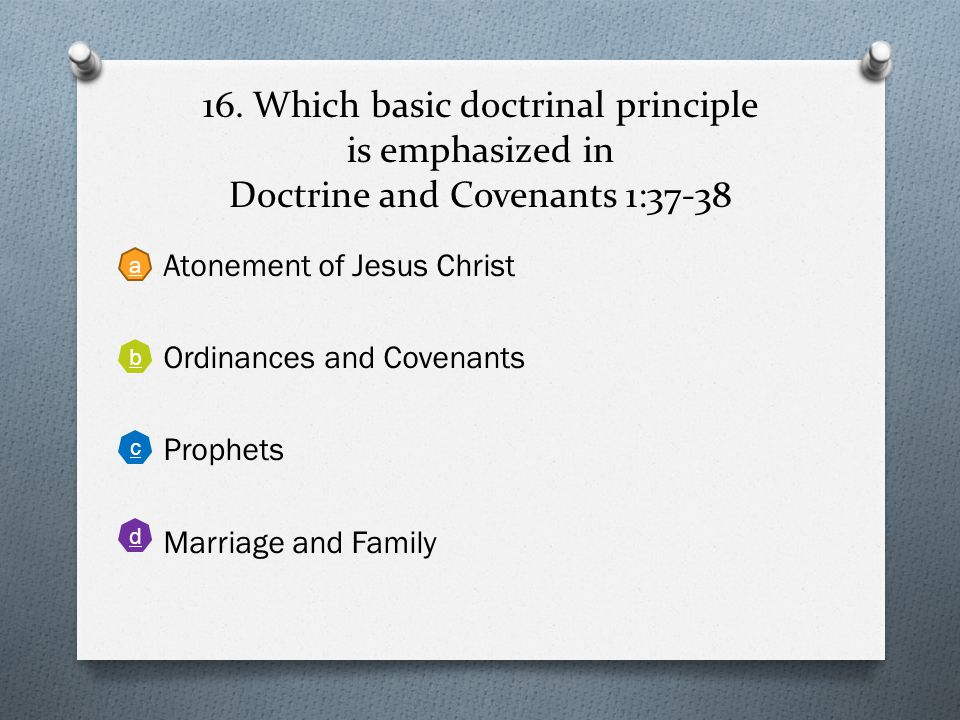 15. According to Doctrine and Covenants 58:42-43, how can we know if people have fully repented of their sins? Back