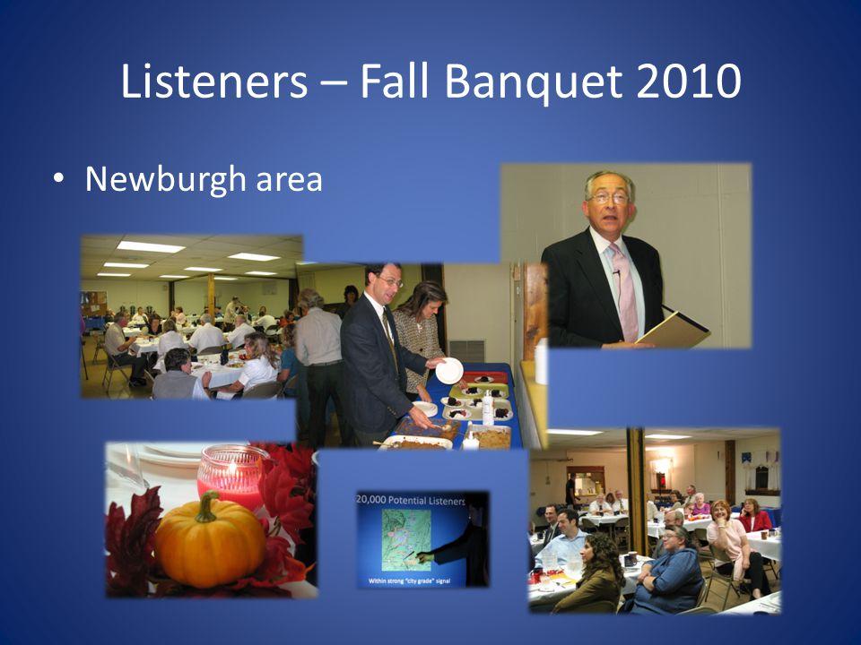 Listeners – Fall Banquet 2010 Newburgh area