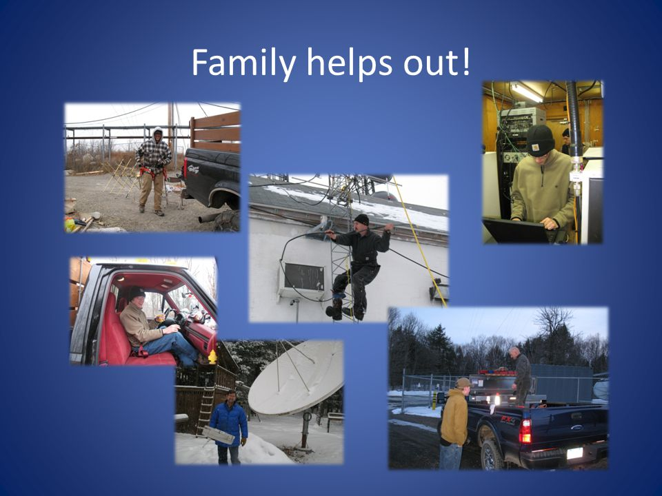 Family helps out!