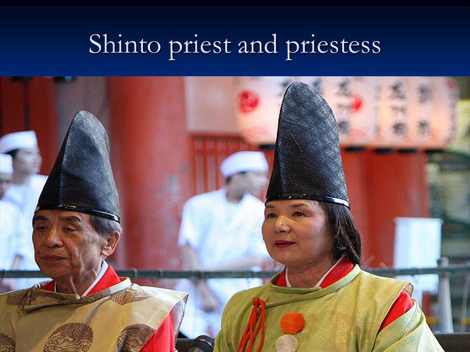 Shinto priest and priestess