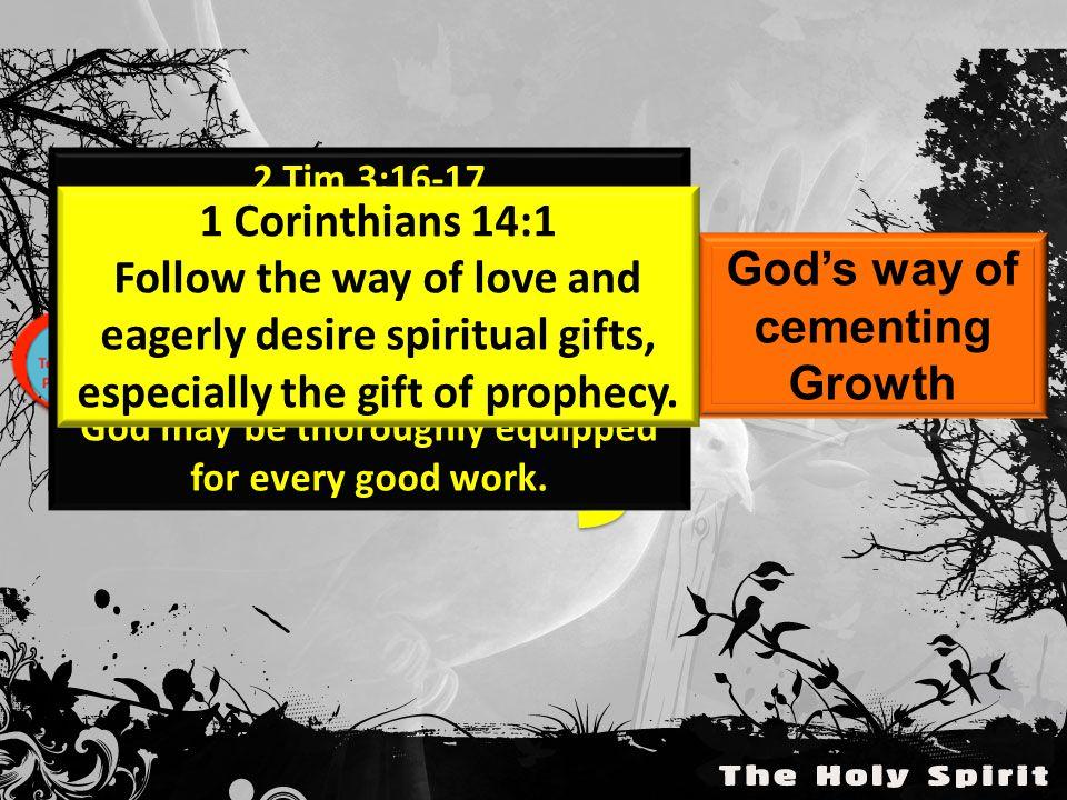 1 Thessalonians 5:19-22 Do not quench the Spirit.