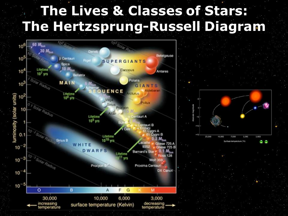 The Lives & Classes of Stars: The Hertzsprung-Russell Diagram The Sun's Life Story