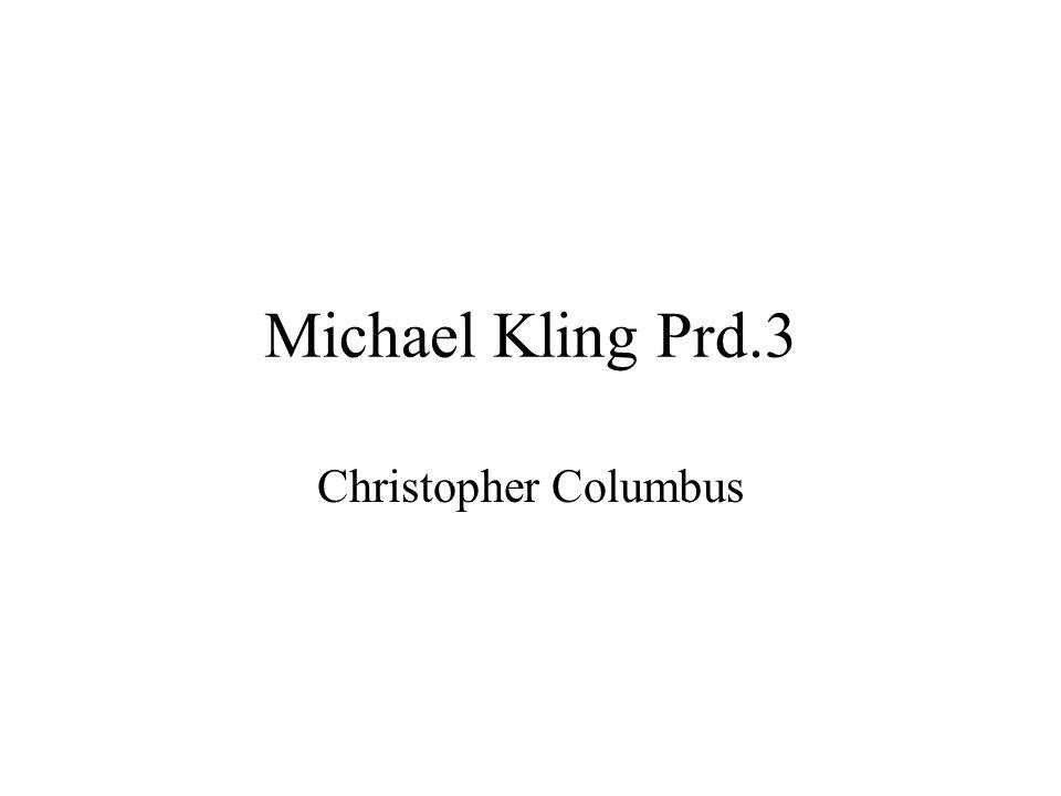 Michael Kling Prd.3 Christopher Columbus