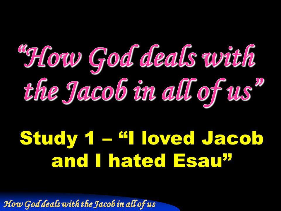 """Study 1 – """"I loved Jacob and I hated Esau"""""""