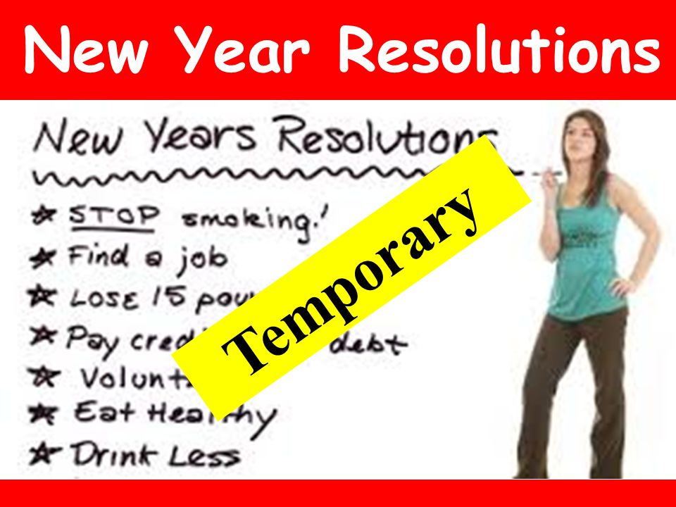 New Year Resolutions Temporary