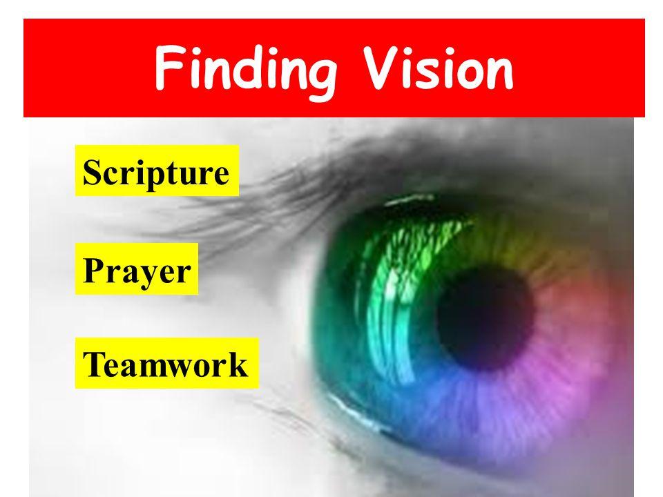 Finding Vision Scripture Prayer Teamwork
