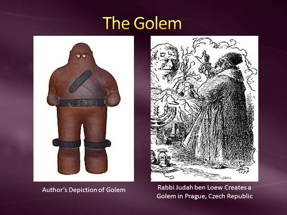 Rabbi Judah ben Loew Creates a Golem in Prague, Czech Republic Author's Depiction of Golem