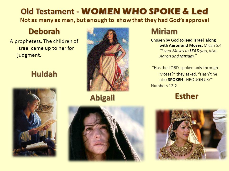 Deborah A prophetess. The children of Israel came up to her for judgment.