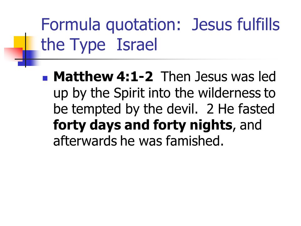 Jesus: Fulfilling the Type Moses Matthew 5:1-2 When Jesus saw the crowds, he went up the mountain; and after he sat down, his disciples came to him.