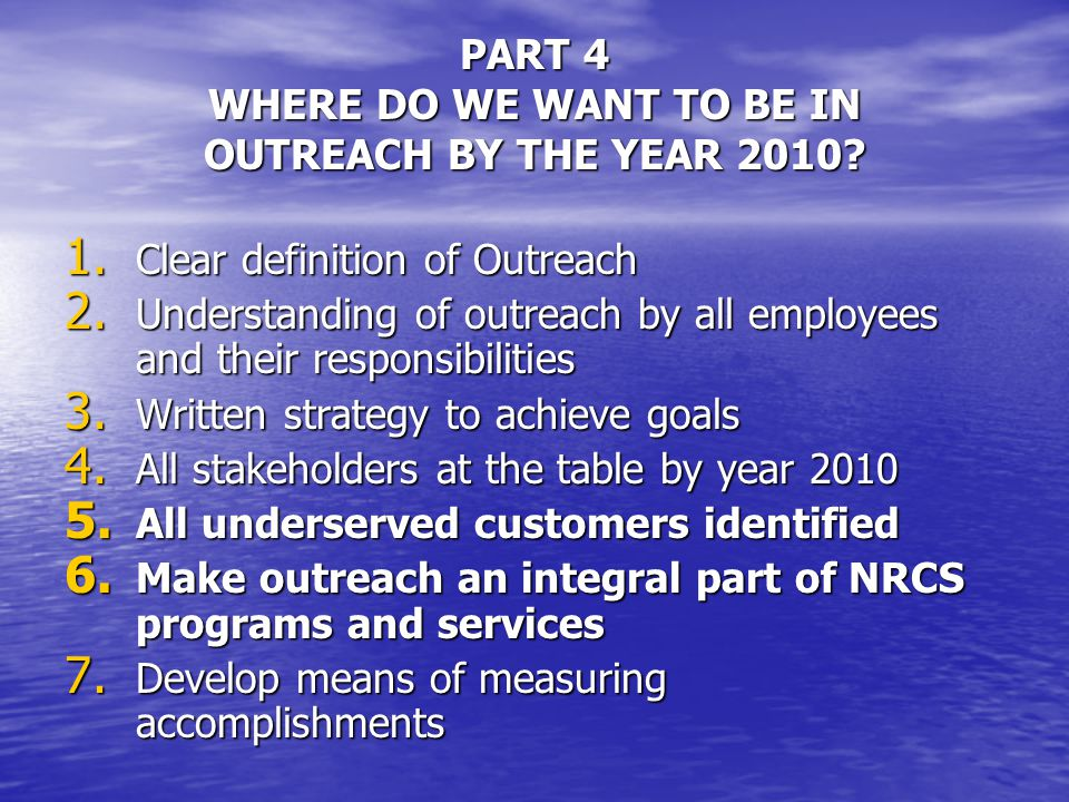 Q2:HOW CAN WE ADDRESS CONCERNS OF FIELD STAFF – OUTREACH MEANS GIVING SPECIAL TREATMENT TO CERTAIN GROUPS.