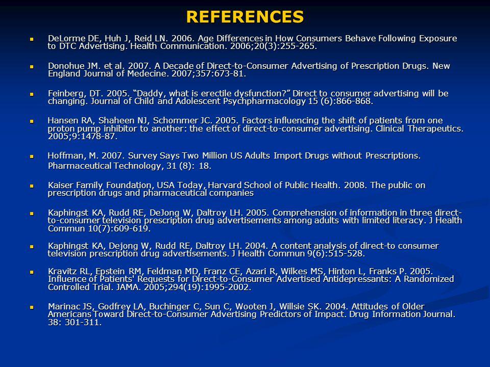 REFERENCES DeLorme DE, Huh J, Reid LN. 2006.